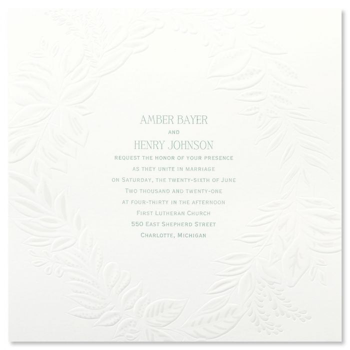 Pearl Wreath Invitation