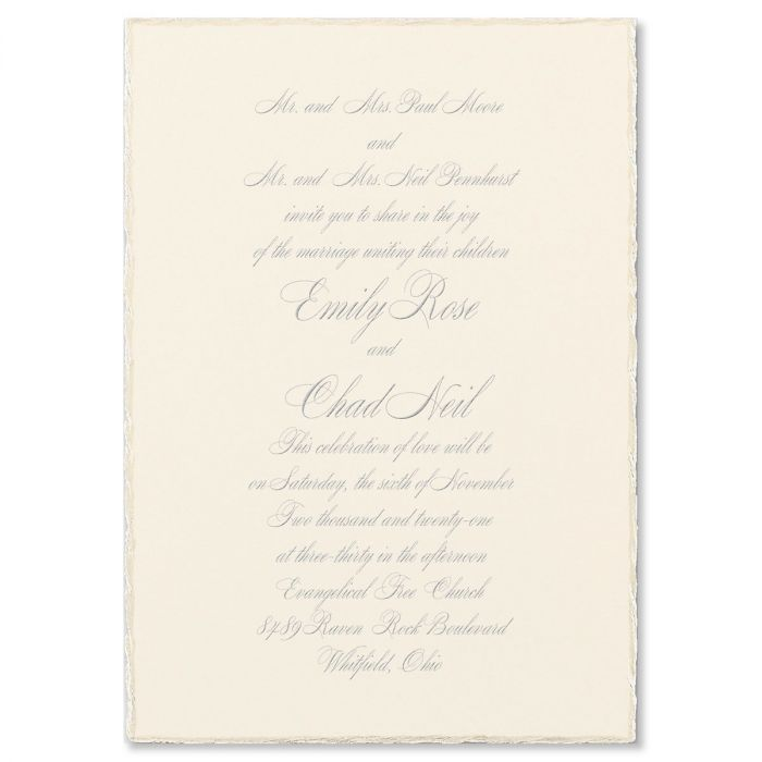 Sophisticated Edges Invitation