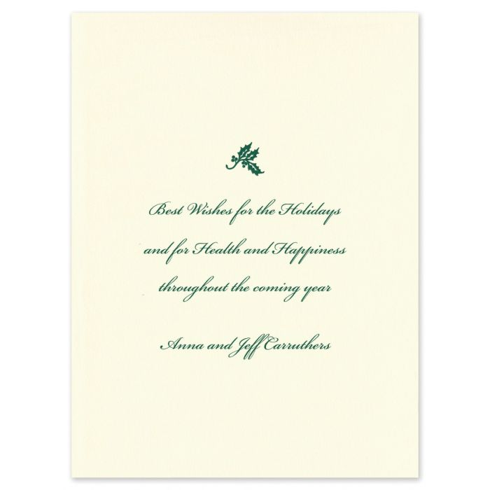 Holly Lantern Greeting Card