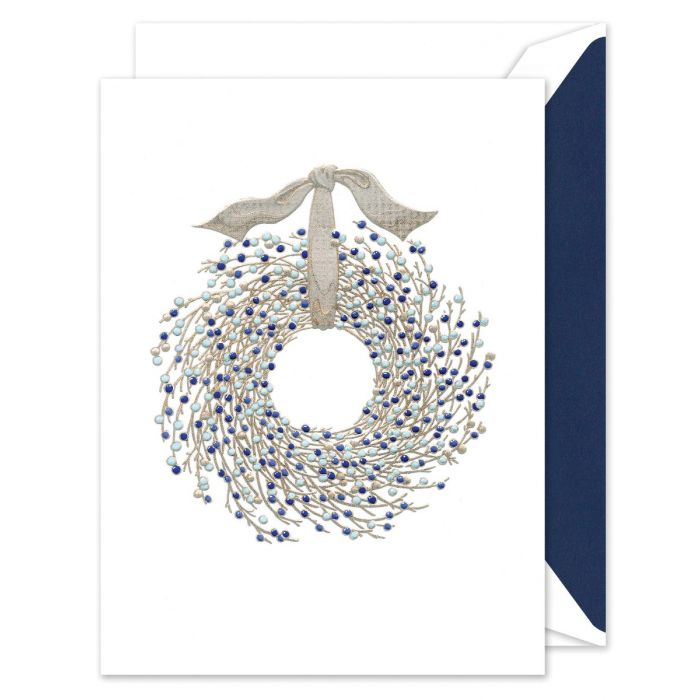 Juniper Berry Wreath Greeting Card