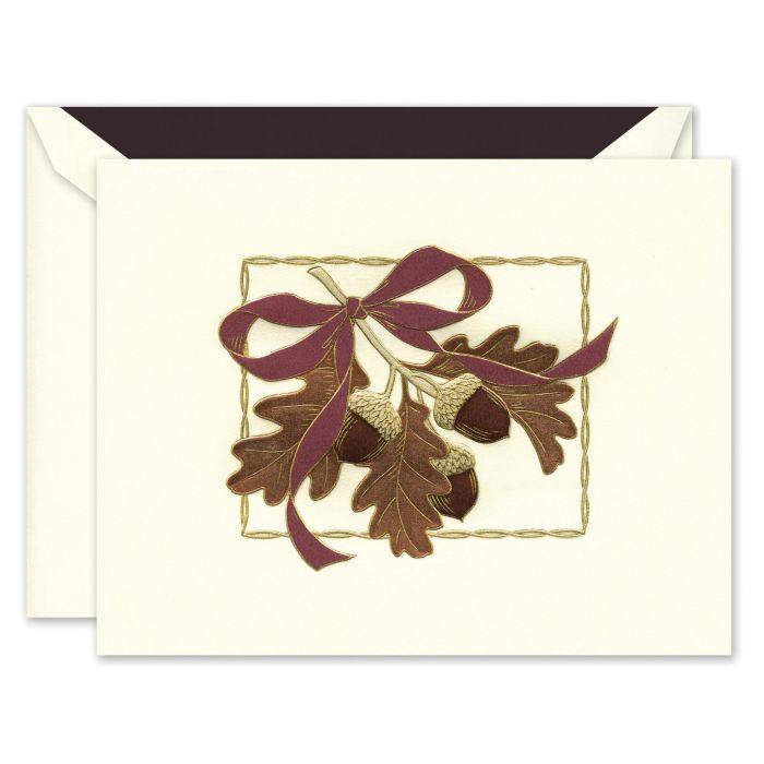 Festive Acorns Greeting Card