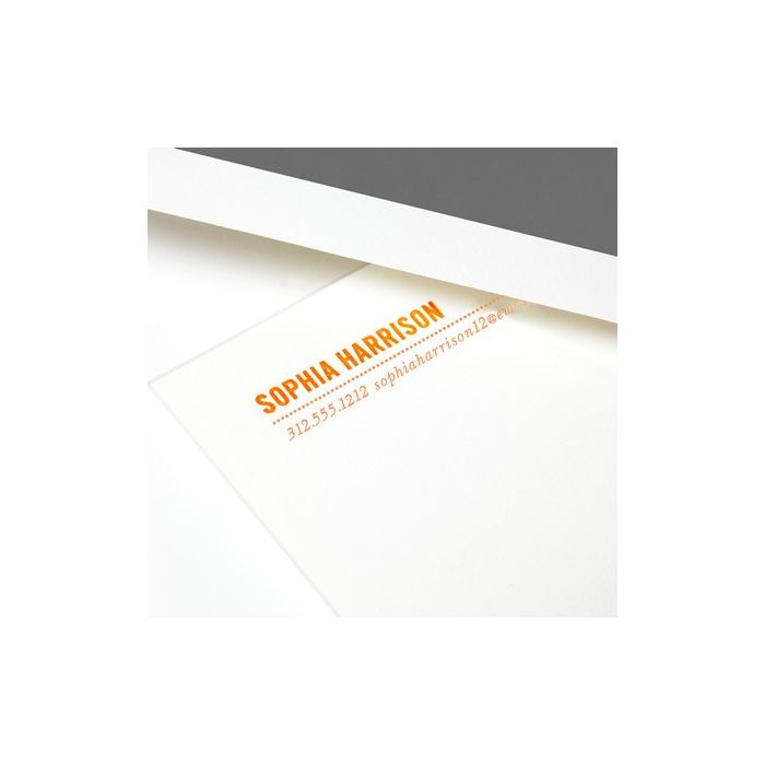 Dotted White Flat Card