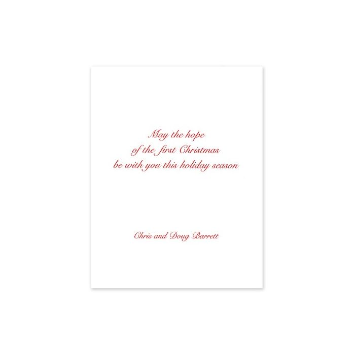 Star & Creche Greeting Card