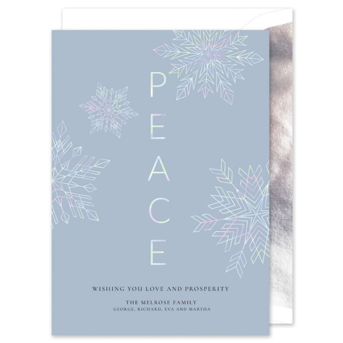 Peace Hologram Greeting Card