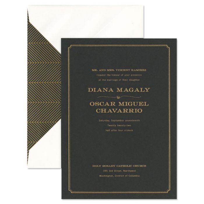 Black Paper Invitation