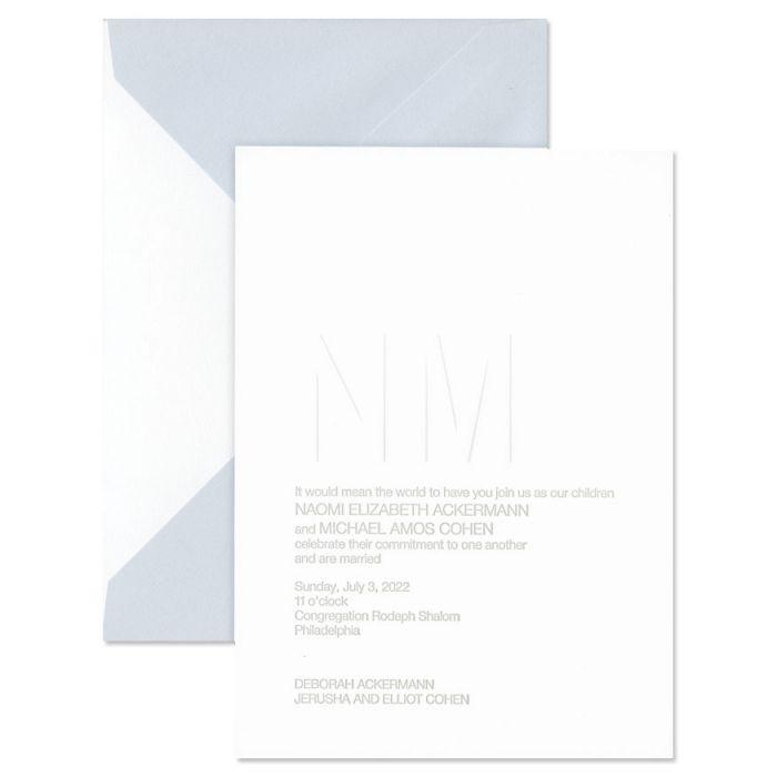 Premium Weight Fluorescent White Cotton Invitation