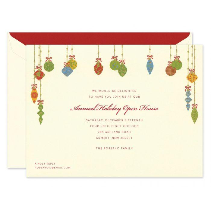 Festive Ornaments Invitation