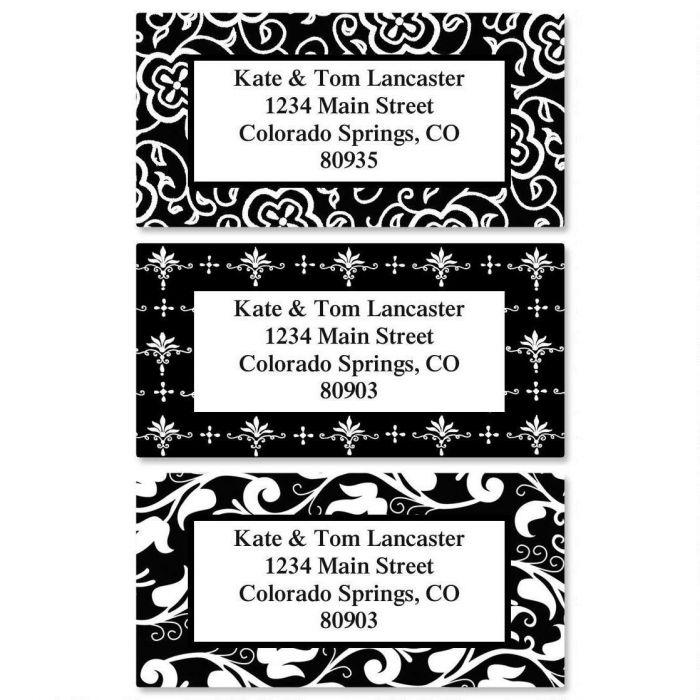 Black Elegance Border Custom Address Labels  (3 Designs)