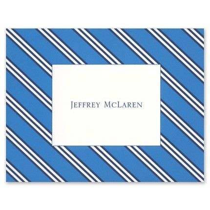 Repp Tie Blue Note Card