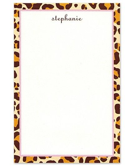 Leopard Note Pad