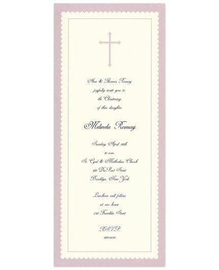 Lavender Cross Invitation