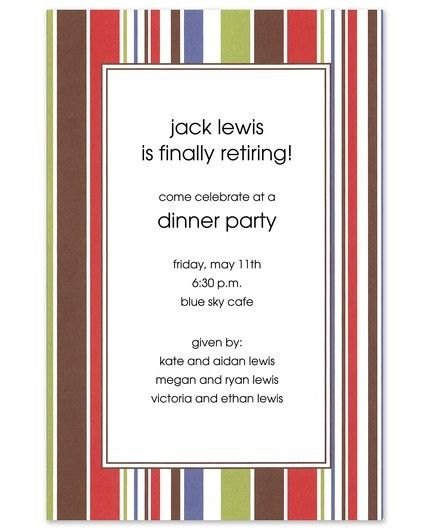 Summer Stripe Invitation