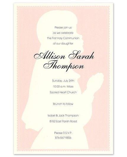 Praying Girl Invitation