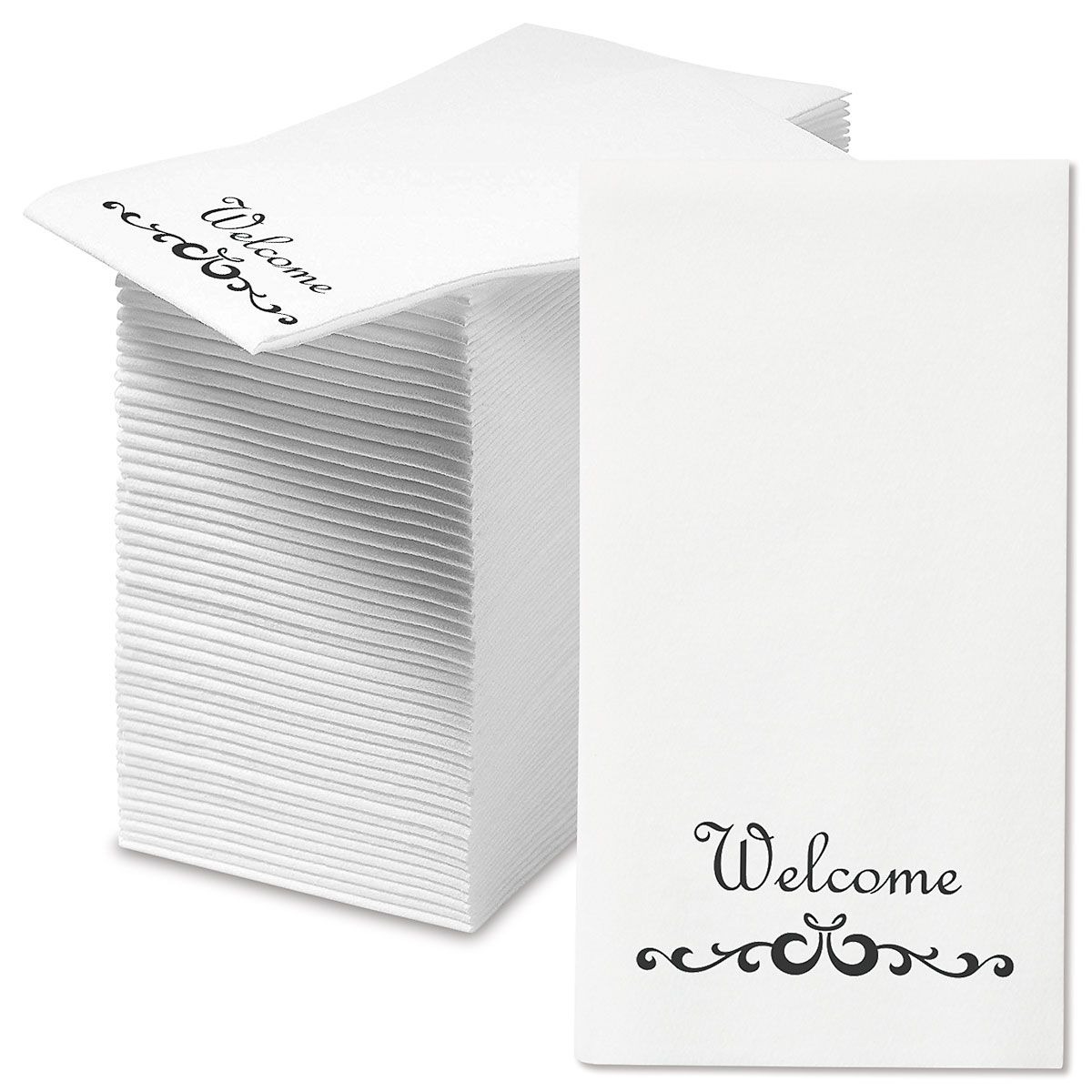 Disposable Welcome Scroll Hand Towels