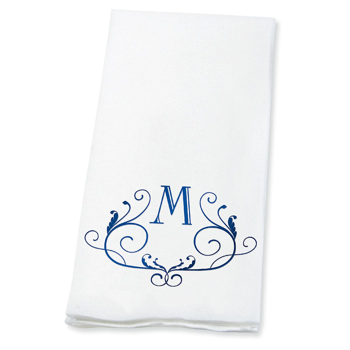 Scroll Initial Foil-Stamped Disposable Hand Towels