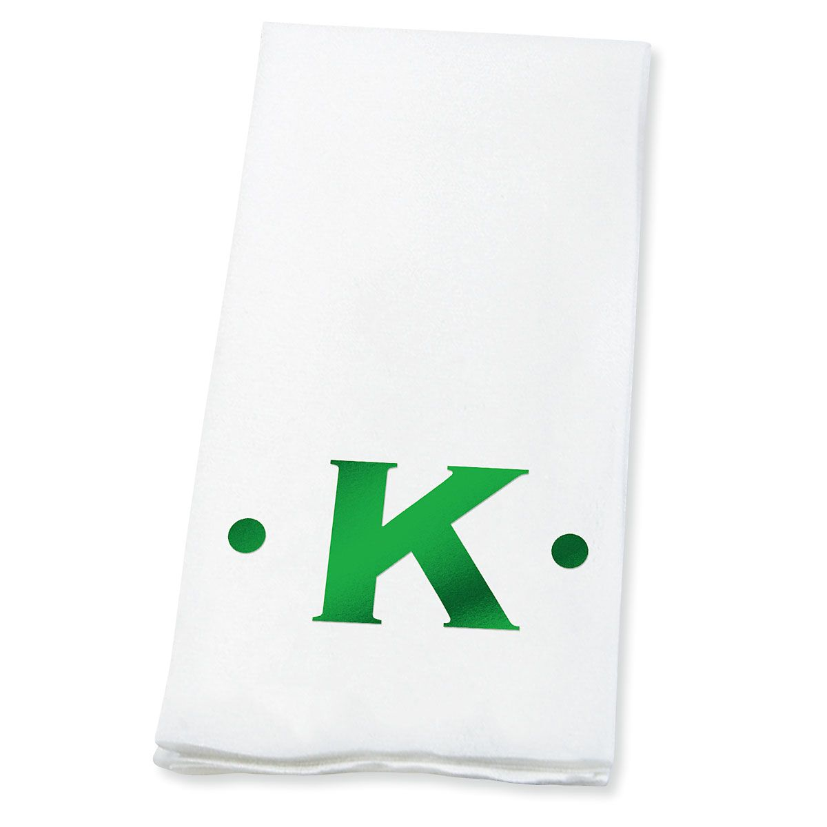 Dot Initial Disposable Hand Towels