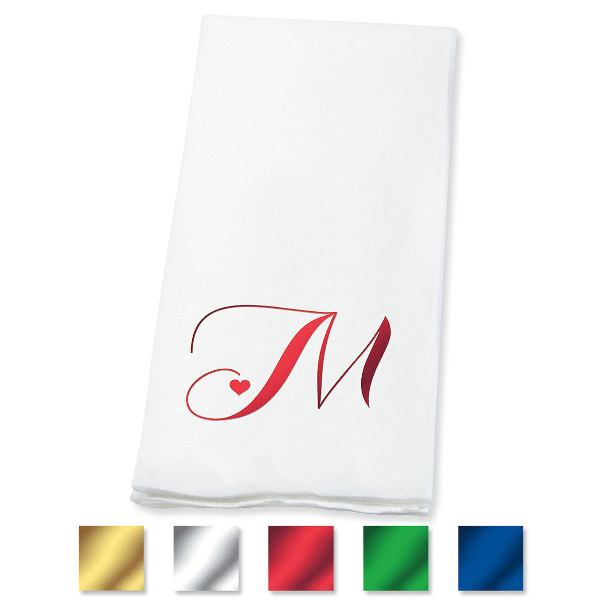 Heart Initial Disposable Hand Towels