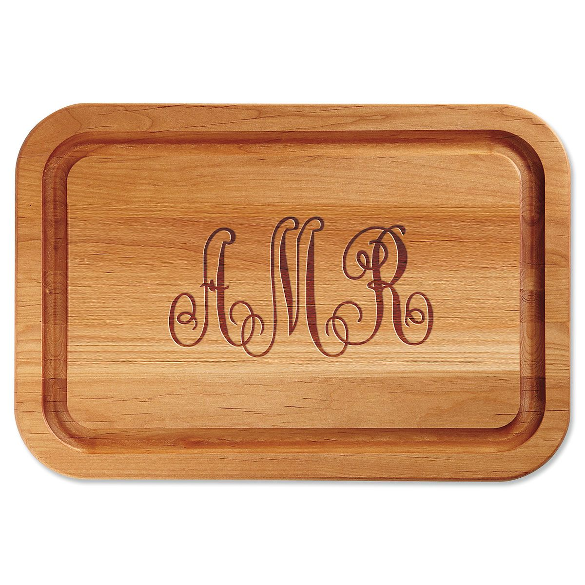 Monogrammed Engraved Alder Wood Cutting Board
