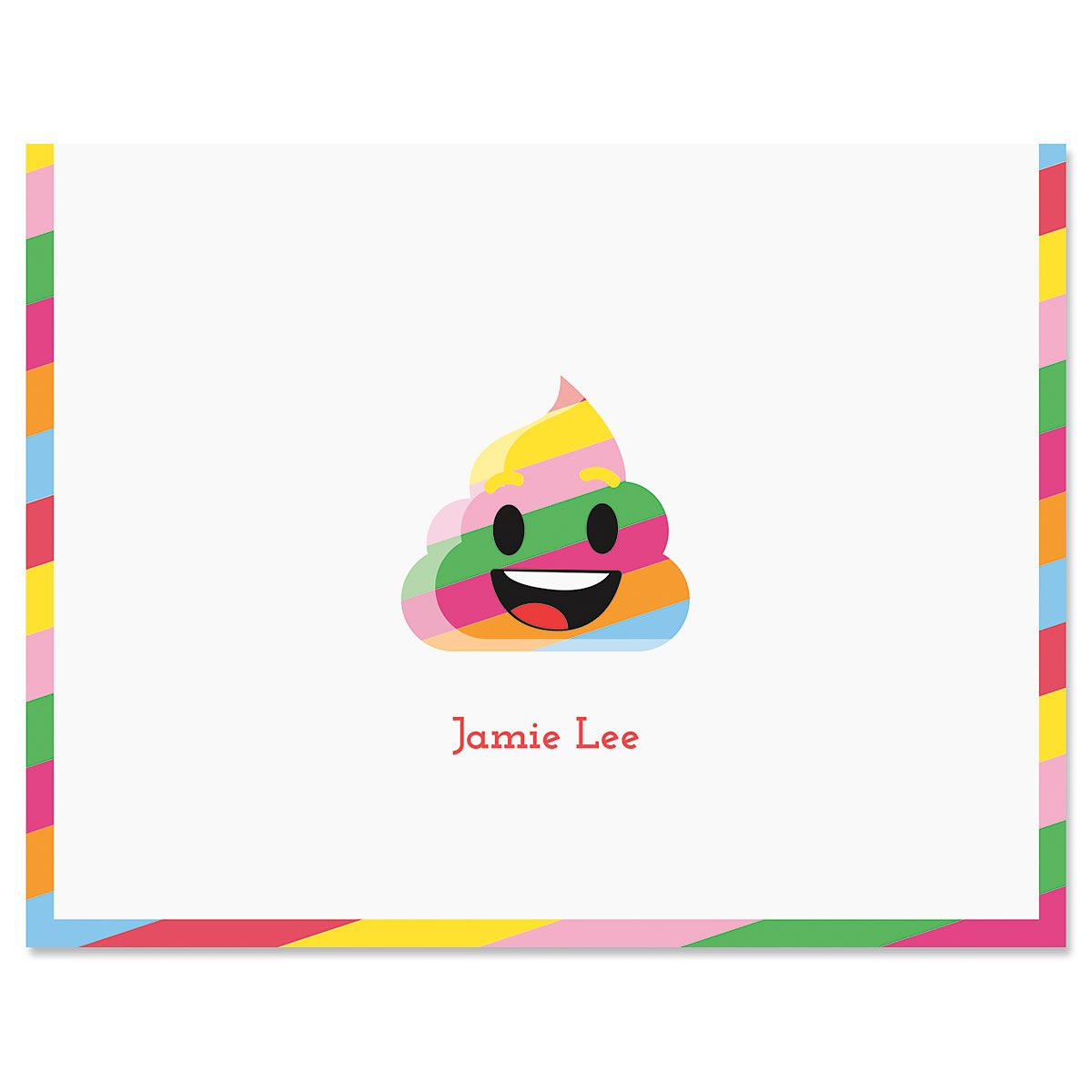 Rainbow Poop Emoji Note Cards