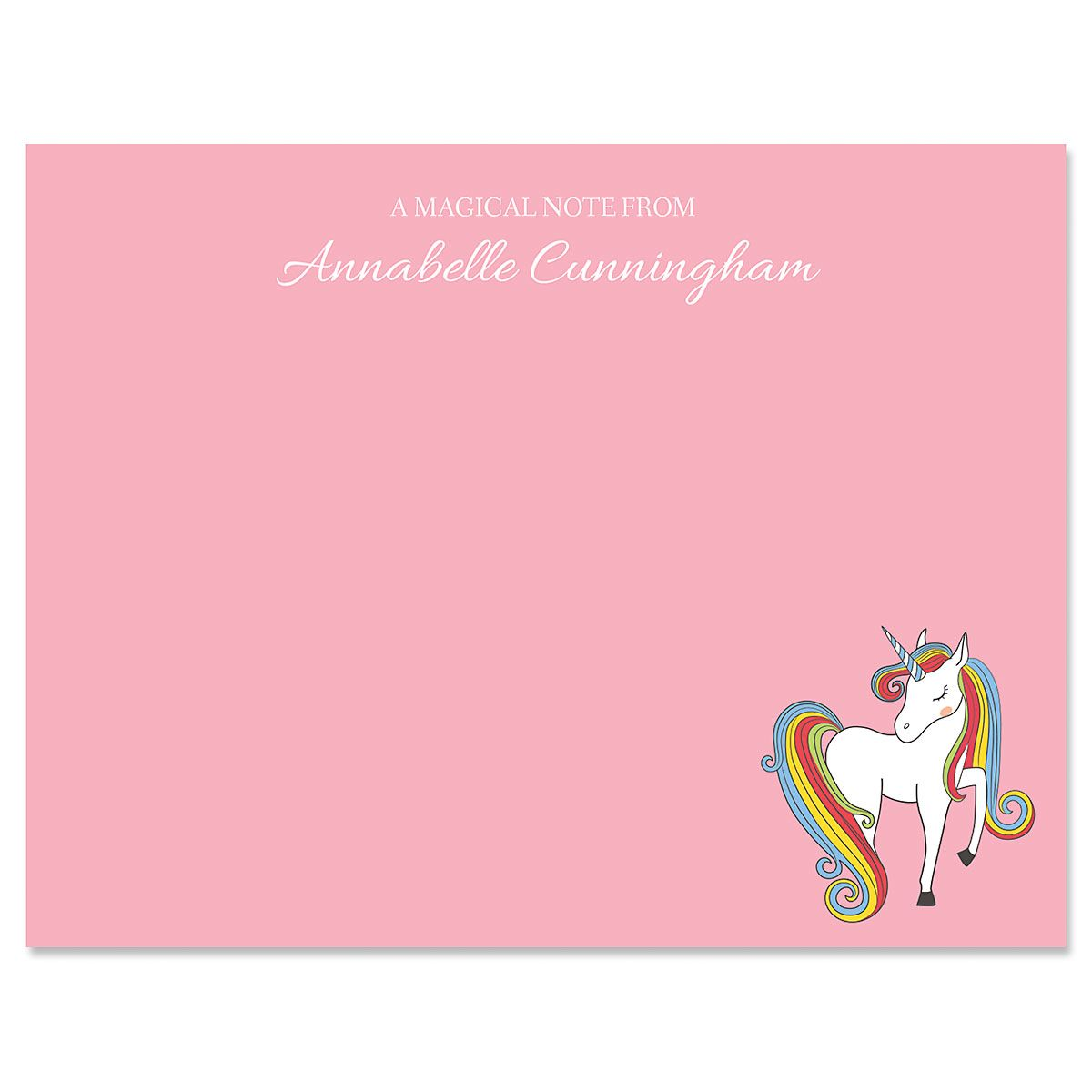 Fantasy Unicorn Correspondence Cards