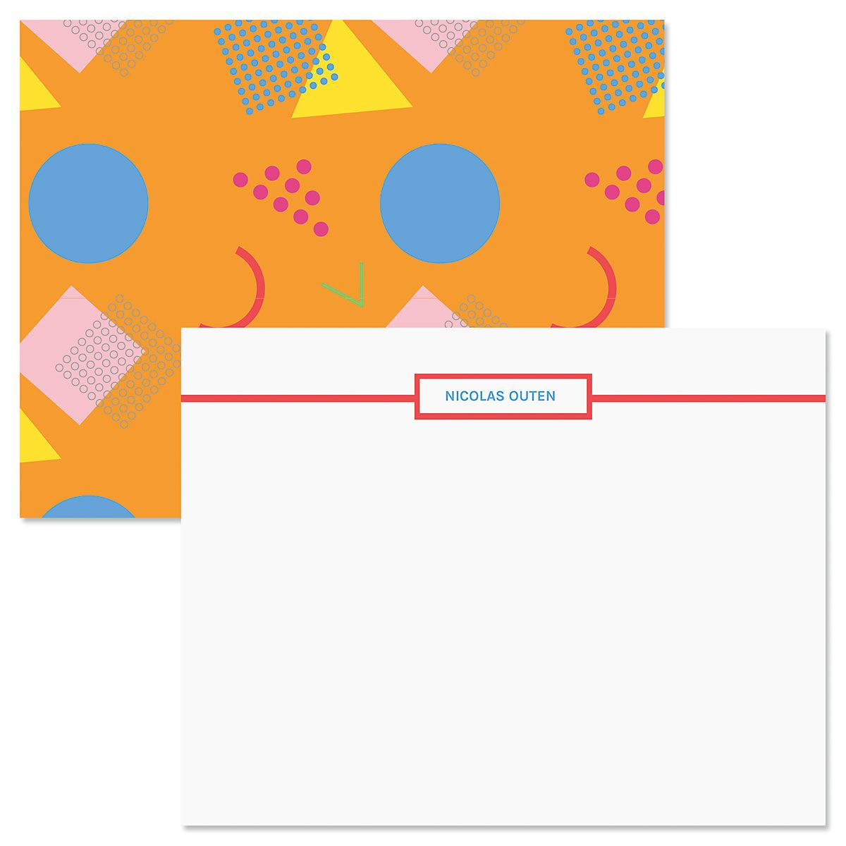 Retro Orange Correspondence Cards