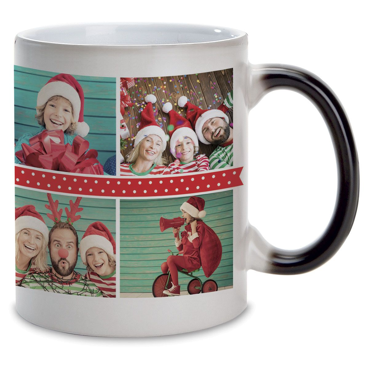 Polka Dot Custom Ceramic Photo Mug