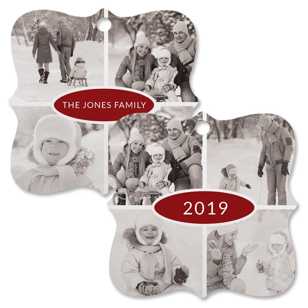 Year Photo Custom Square Ornament