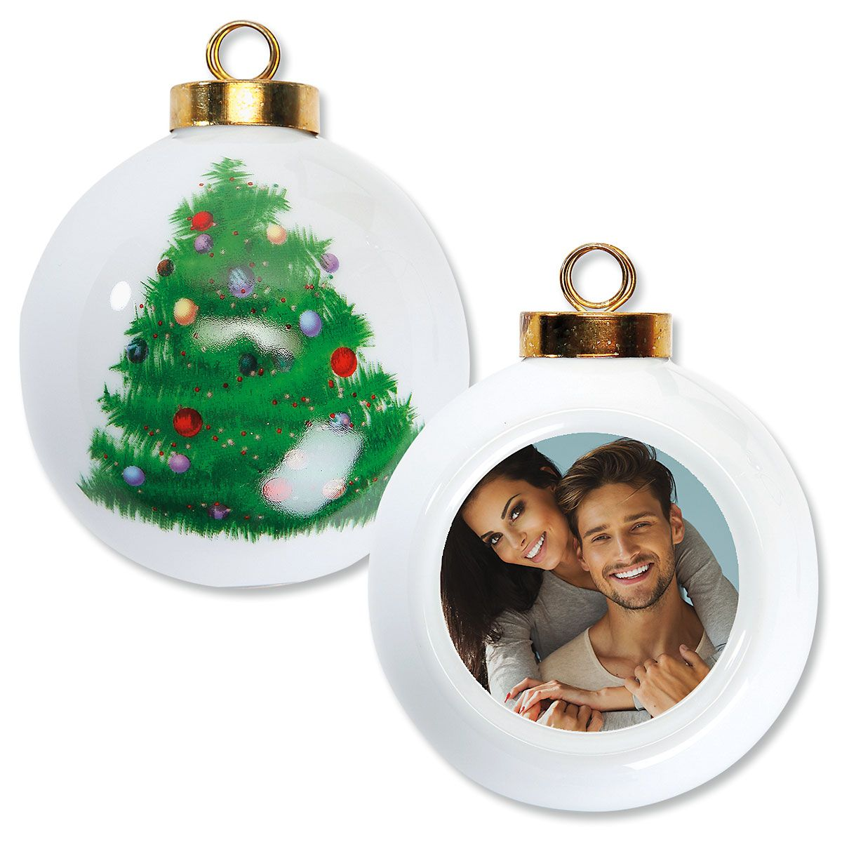 Full Custom Photo Round Tree Ornament