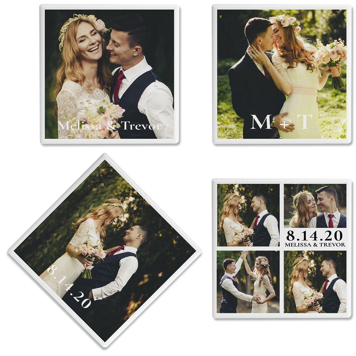 Nuptial Photo Custom Coasters