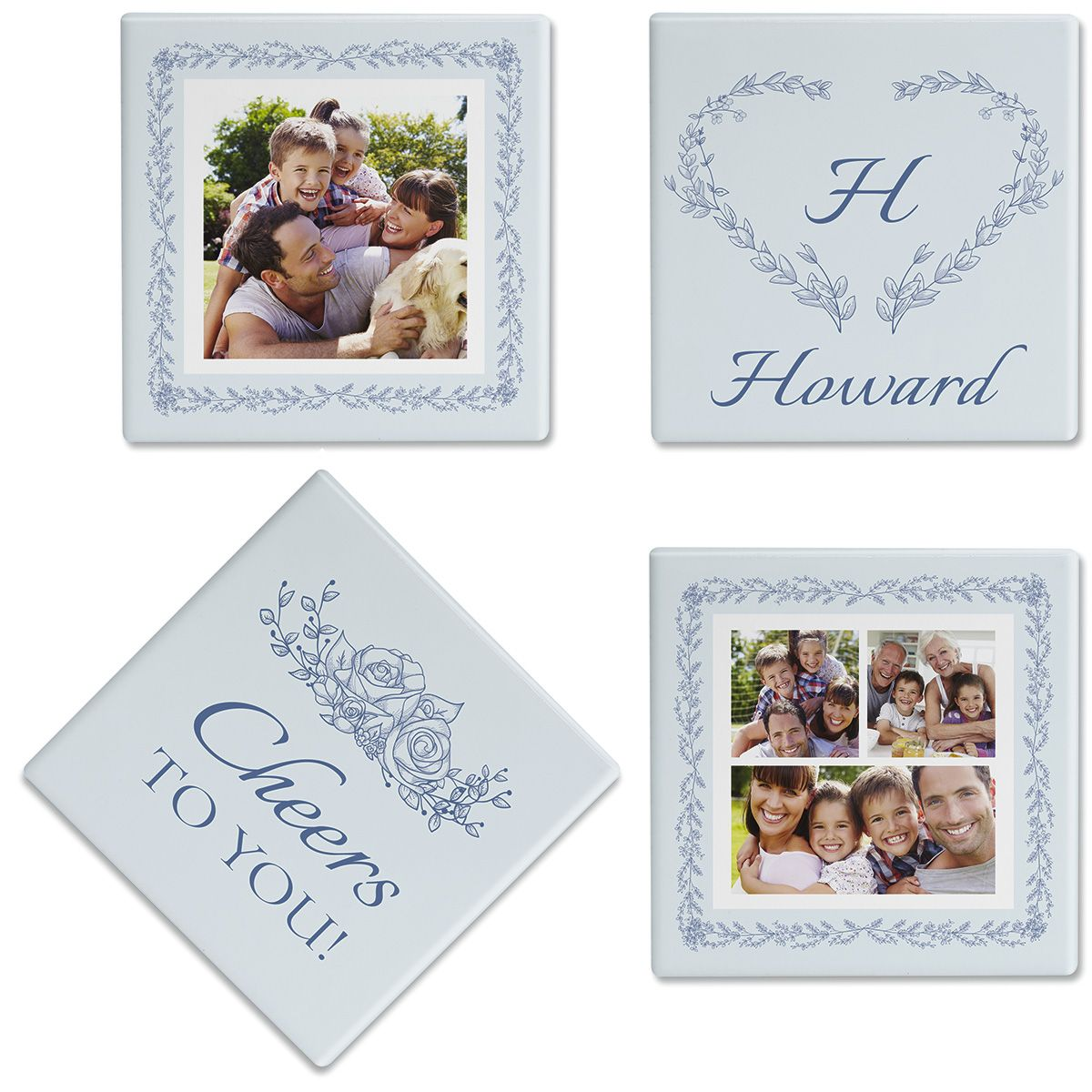 Laurel Cheers Photo Custom Coasters