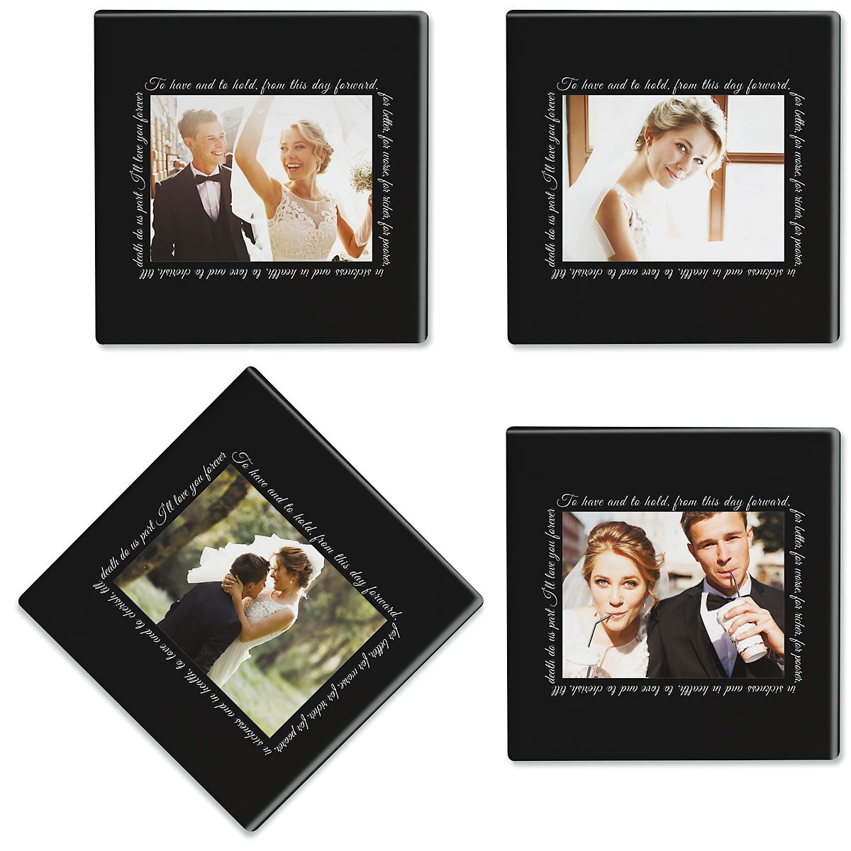 To Have and to Hold Photo Custom Coasters