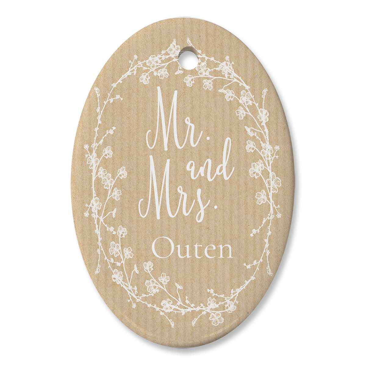 Mr And Mrs Custom Oval Ornament