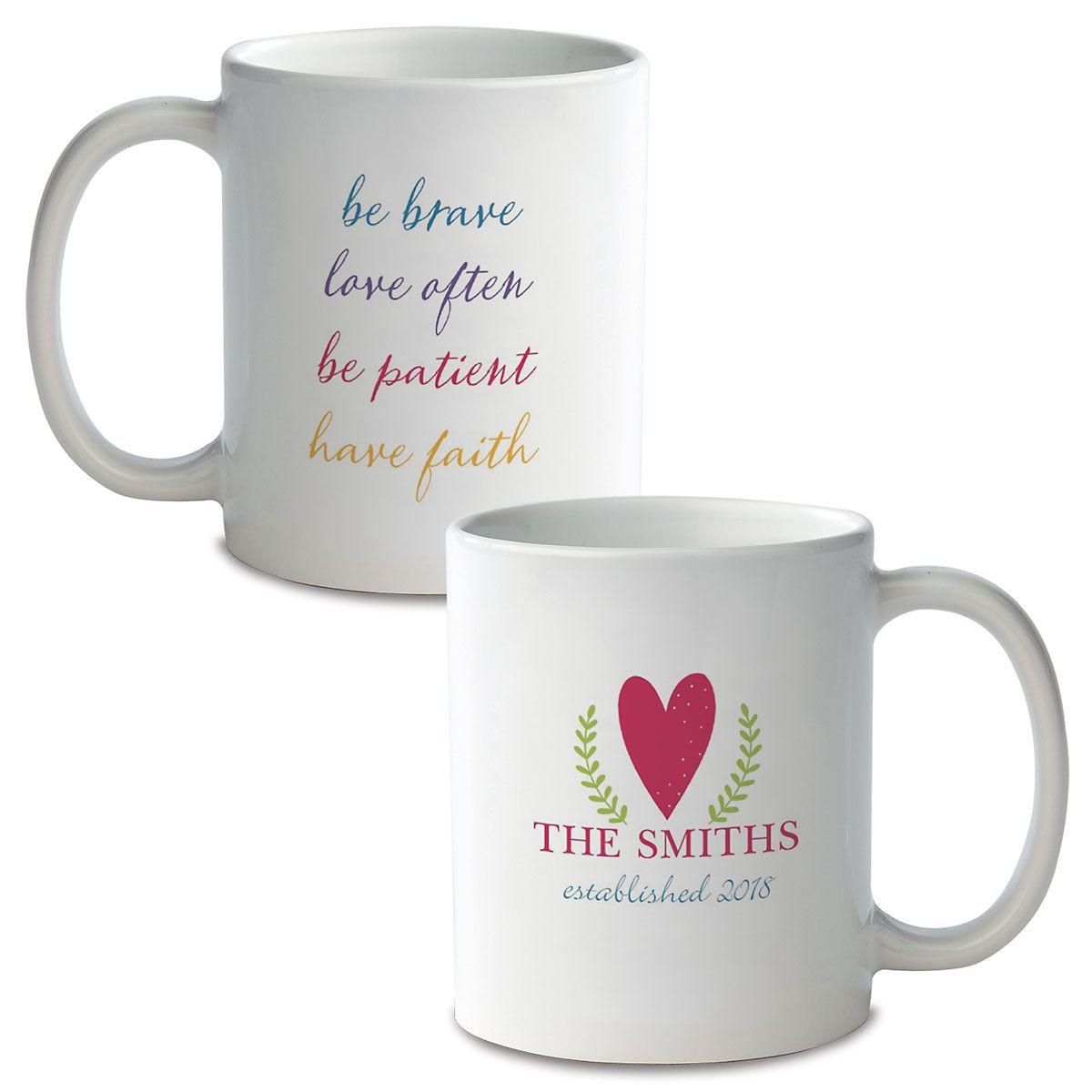 Be Brave Custom Ceramic Mug