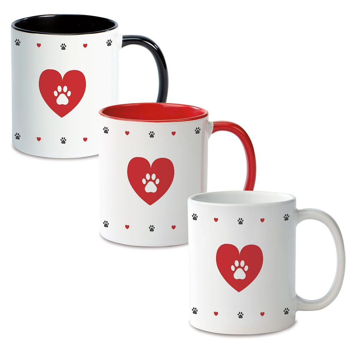 Paw Print Custom Ceramic Mug