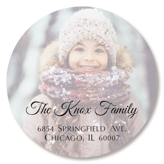 Full Round Photo Custom Address Labels