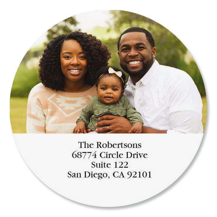 Direct Round Custom Photo Address Labels