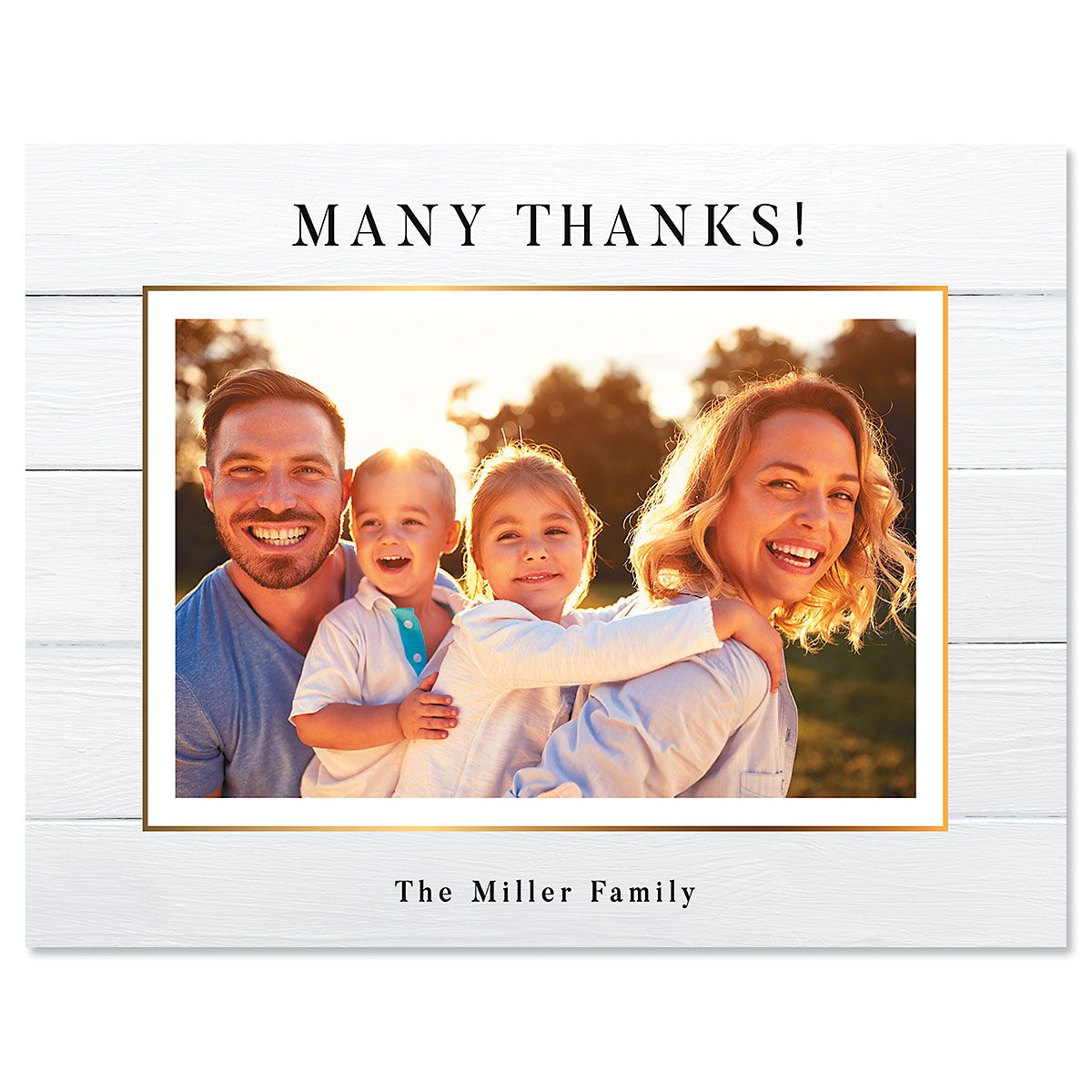 Shiplap Thank You Horizontal Photo Note Cards