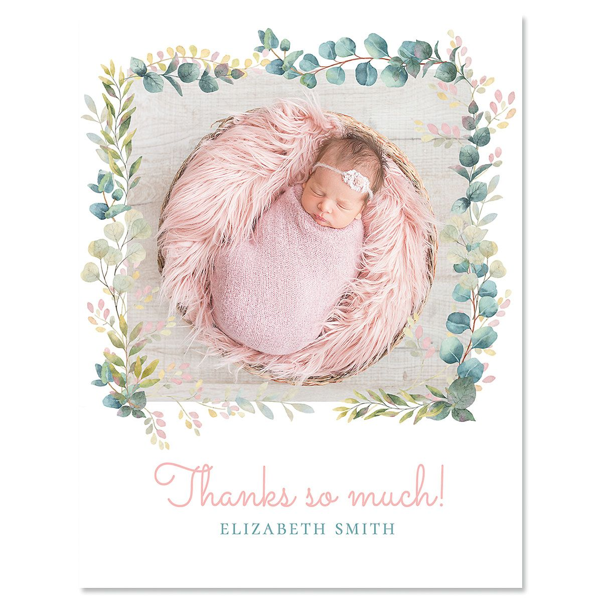 Botanical Thank You Vertical Photo Note Cards