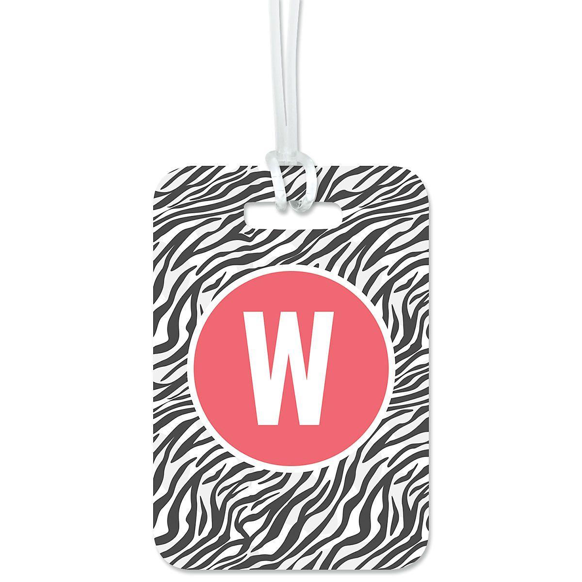 Custom Zebra Print Luggage Tag