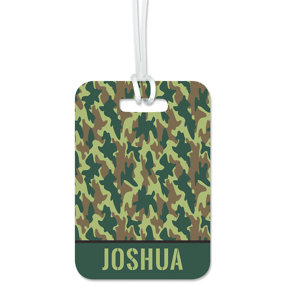 Custom Green Camo Luggage Tag
