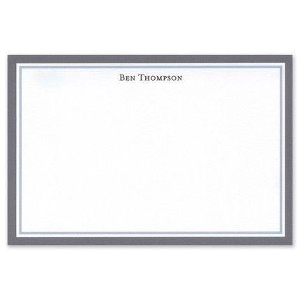Charcoal & Blue Flat Card