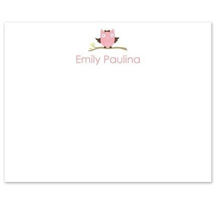 Pink Owl Flat Card