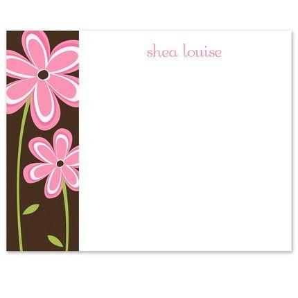 Pink Daisy Flat Card