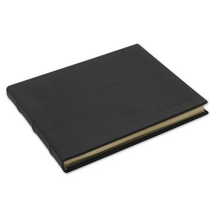 Black Leather Guest Book