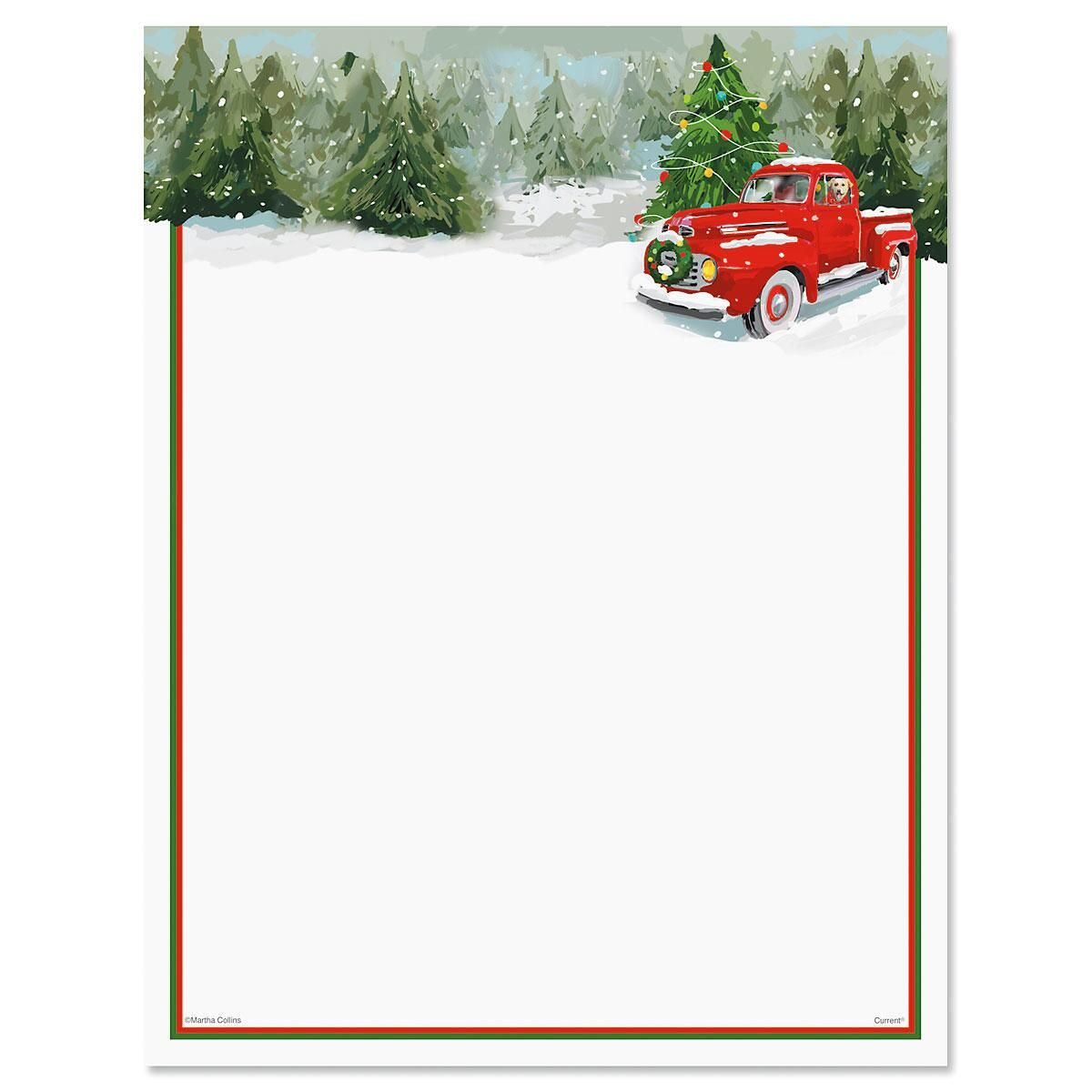 Red Truck Letter Papers