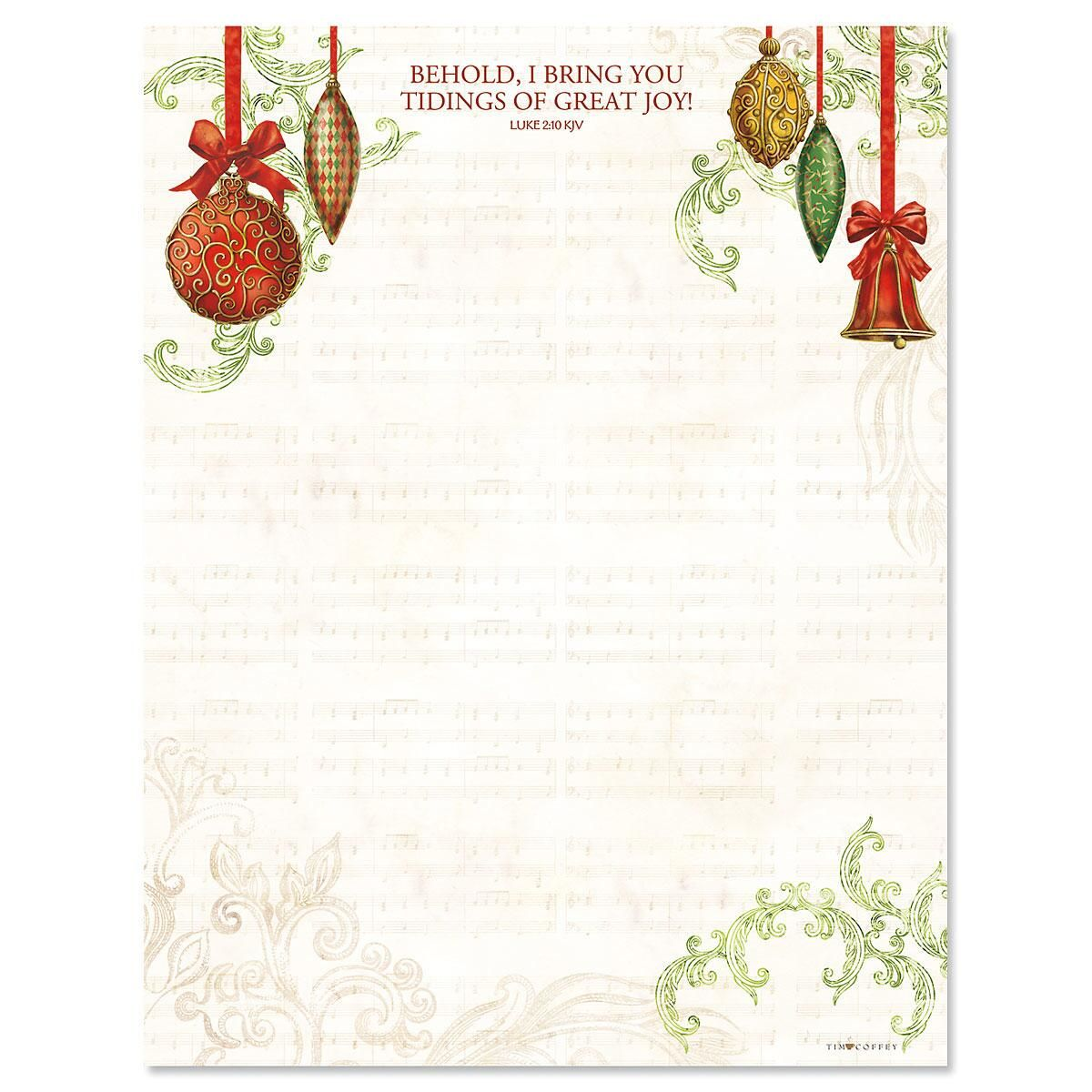 Ornaments Letter Papers