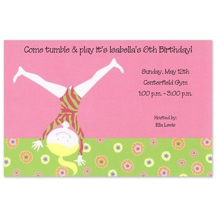 Cartwheel Invitation