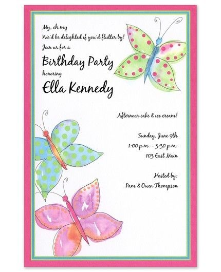Butterfly Wash Invitation