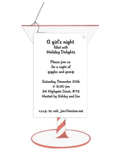 Festive Martini Invitation