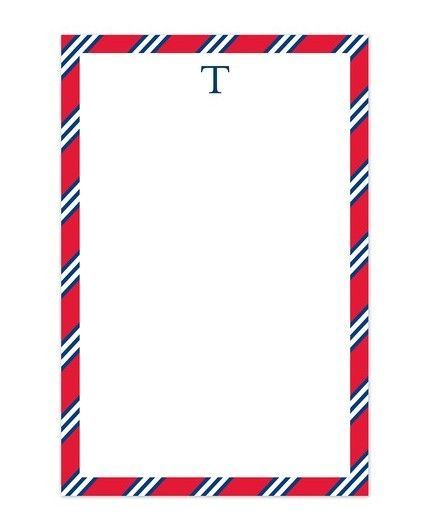 Red & Navy Tie Note Pad